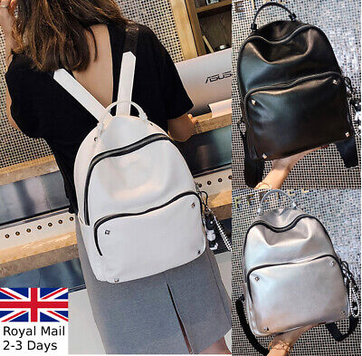Fashion Ladies Women Leather Backpack Bag Rucksack Handbag College Satchel Tote