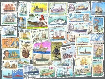 Ships on stamps 200 all different stamp collection