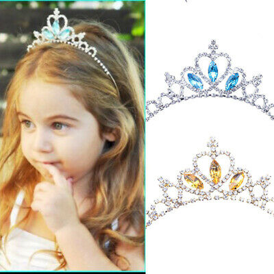 Kids Children Wedding Prom Crystal Rhinestones Tiara Princess Crown Headband