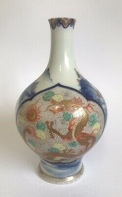 Good Antique Japanese Fukagawa Porcelain Vase
