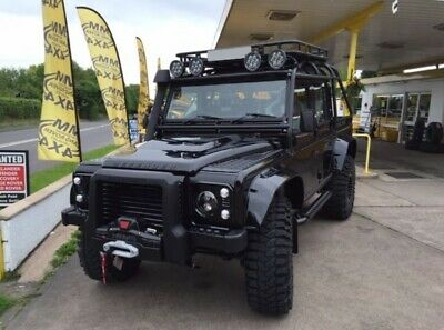 Land Rover Defender 'Spectre' Style Extended Wheel Arch Set - Gloss Black