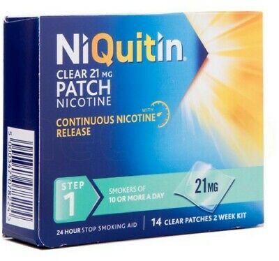 NIQUITIN CLEAR 21 mg Patch - Step 1 X 14 Patches Pharm Chem
