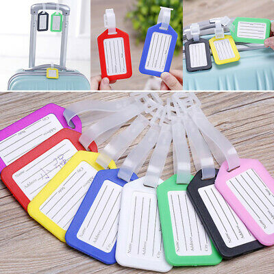 Cute Travel Luggage Bag Tag Name Address ID Label Plastic Suitcase Baggage Tags