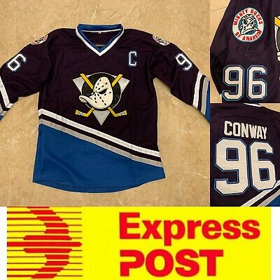 Ice Hockey Anaheim Mighty Ducks jersey, #96 Conway jersey, Dark Purple