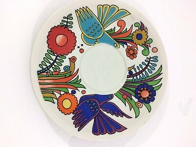Villeroy & Boch China Acapulco Saucer Birds Floral Bright Replacement China