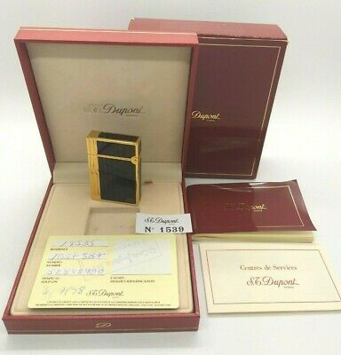 S.T. DUPONT Gatsby Laque Chine Wood Double Flame Lighter - From 1998 - Boxed