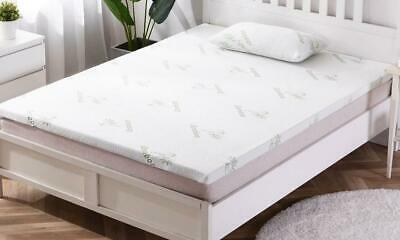 Luxury Memory Foam Bamboo Mattress Topper Enhancer Hotel Quality Thick Firm GC