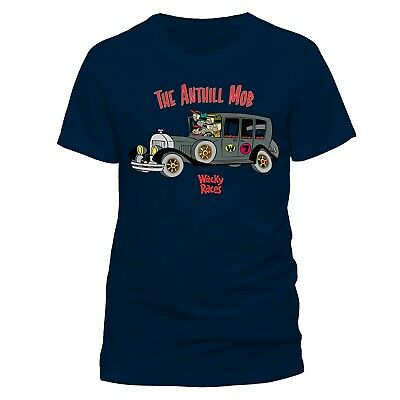 OFFICIAL Wacky Races The Anthill Mob Blue Mens T-Shirt Top (NEW)