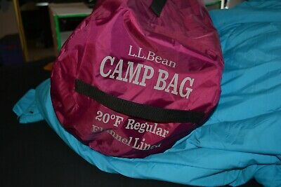 Pleasant Ll Bean Camp Sleeping Bag Flannel Lined 20 Degrees Outdoor Theyellowbook Wood Chair Design Ideas Theyellowbookinfo