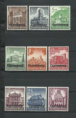 Germany. Third Reich. 1941. Occupation Luxemburg, Overp. German Castles Mnh Og