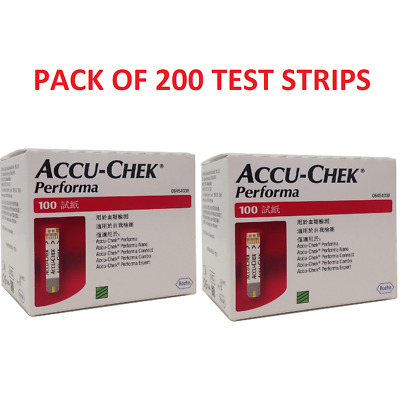Accu-Chek Performa 200 Test Strips,LONG EXPIRY APRIL 2020 - FREE SHIPPING