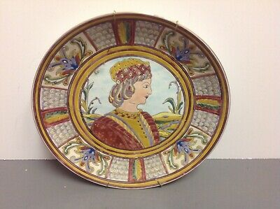 ANTIQUE ENEMALED PAINTED BEAUTIFUL PLATE Victorian Style