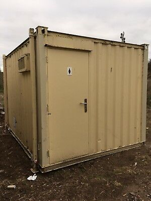 Site Toilet Block Portable Steel Building Men's Women's Toilets 12ft x 9ft