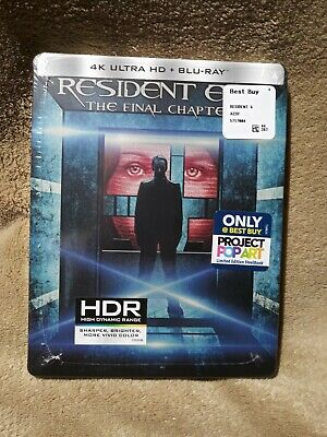 Resident Evil The Final Chapter DVD 4K Ultra HD Blu-ray Steelbook Priority Mail