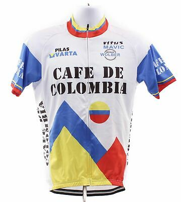 0839cfcf376 NEW Cafe De Colombia Large Full Zip Short Sleeve Cycling Jersey Road  Columbia