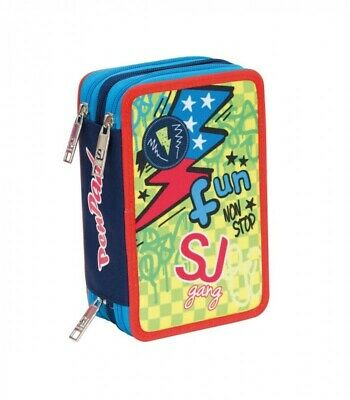 ASTUCCIO pen pad 3 ZIP accessoriato BOY triplo scomparto SJ GANG materiale scuol