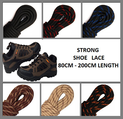 STRONG Round SHOE LACE Walking Hiking Boots Shoelaces Trainers 5 mm