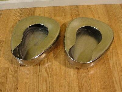 Lot of 2 Vintage VOLLRATH Stainless Steel Ware 9901 Bed Pan  Garden Planter