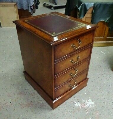 Stunningly Restored Filing Cabinet Burr Walnut 2 Drawer Antique Reproduction