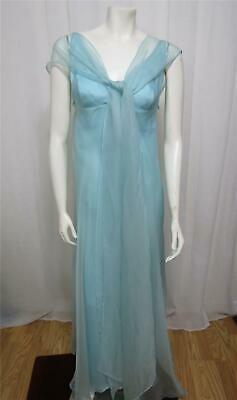 Les Habitudes Los Angeles Baby blue silk special occasion gown XS-0