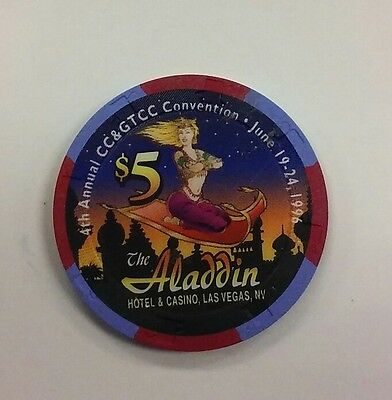 Aladdin $5 Casino Chip - Las Vegas, Nevada
