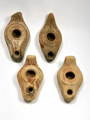 Lot of 4 Roman, Byzantine Terracotta Oil Lamps c.2nd-4th century AD.