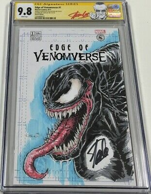 Marvel Edge of Venomverse #1 Sketched by Kotkin Signed by Stan Lee CGC 9.8 SS