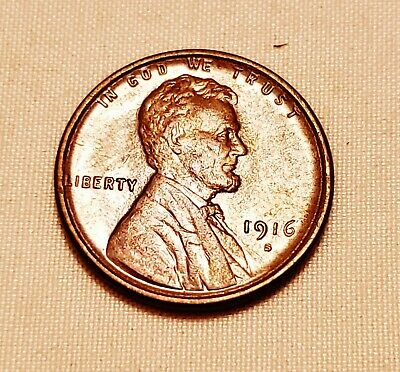 1916-S Lincoln Wheat Cent---High Grade