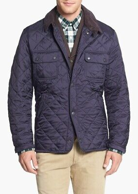 Barbour Men's Tinford Quilted Jacket, Navy Blue, Medium, New Without Tags