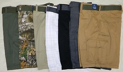 Mens George Stacked Stretch Cargo Shorts - Various Colors and Sizes - NWT