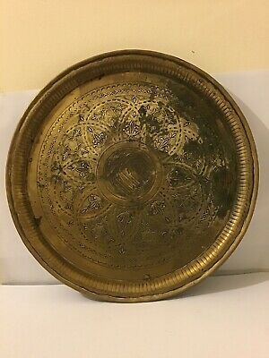 Antique  Arabic Wall Plaque Tray Signed On The Reverse