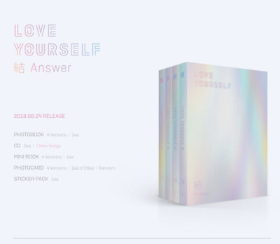 BTS Love Yourself 結 ANSWER + 4 Gifts