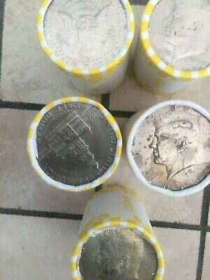 5  Bank Sealed Half Dollar Rolls With  Silver Kennedy And 2015-D  Ender   More..