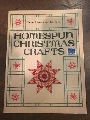 Homespun Christmas Crafts (Paperback) by Better Homes and Gardens