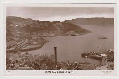 Real Photo Postcard Oban Bay Looking N.W Unposted Perfect Condition