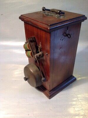 Vintage Butlers Bell - Door Bell - Portable Battery Bell Box Lovely Wood Case