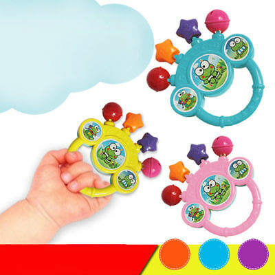Cartoon Infant Baby Bell Rattles Newborns Toys Hand Toy For Children Music Toy D