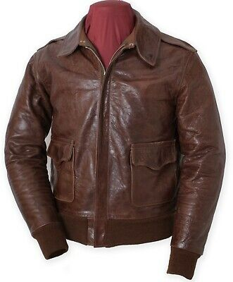 Eastman Leather Winter Lined Mod Horsehide  A-2 Flying Jacket, RW 27752 SZ 42