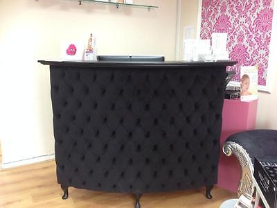 Curved Salon Reception Desk with padded front - other colours available