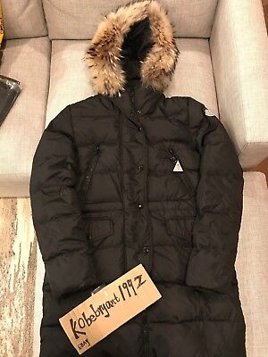 d2fac7ed383 New Moncler Black Fragon Giubbotto Coat Women Size 3 ( M   L ) Real Fur