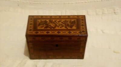 Tunbridge Ware Box c1860 fitted writing box v good condition