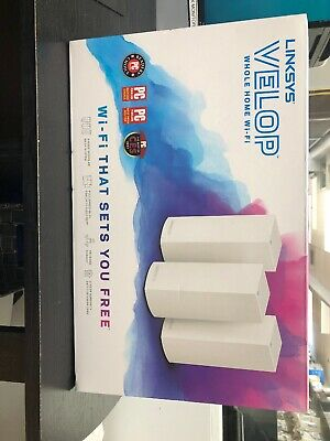 LINKSYS WHW0103 VELOP Dual Band 3 Pack AC1300 MU-MIMO Home