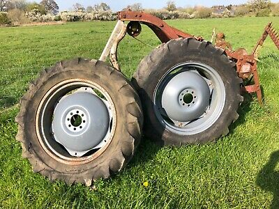 ferguson diesel 20 rear wheels grey fergie - two