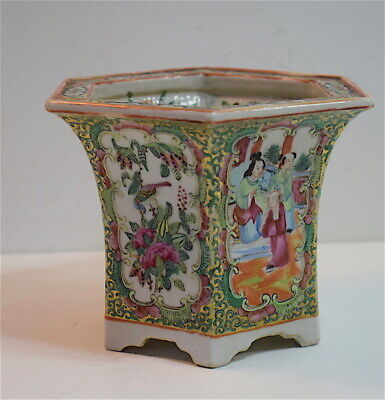 Cache pot ou pot ancien canton Chine Chinese China porcelaine chinoise 中国