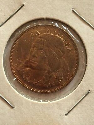 SACAJAWEA Shoshone Tribe Franklin Mint Rugged Americans series Coin Token