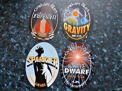 Oakham Ales Various real ale beer pump clip signs 4X different