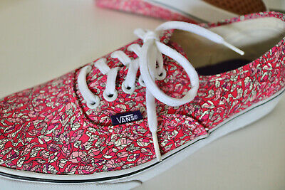 5351604db0 VANS X LIBERTY OF LONDON pink leaves Authentic sneakers M 9.5 W 11