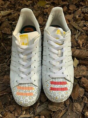 new styles a2916 fdf0c MENS ADIDAS SUPERSTAR Pharrell Williams Supershell Skater Shoes Classic  Size 10