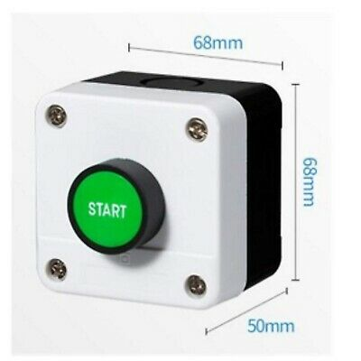 Control Box Green Start Button Motor Starter Plastic Case Enclosure 68x68x50 mm