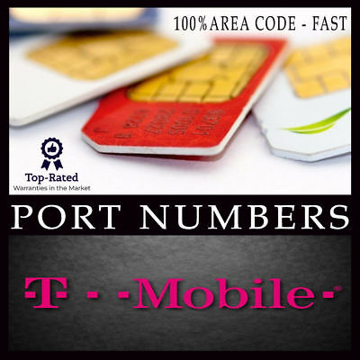 T-Mobile Prepaid Prefunded Vanity Numbers For Port, All area code Instant